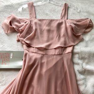 ASOS Cami Cold Shoulder Flutter Sleeve Maxi Dress
